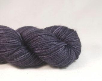Hand Dyed Superwash Merino DK Yarn Dark Purple