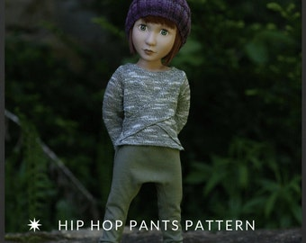 Hip Hop Pants Pattern for 16 inch AGAT Doll