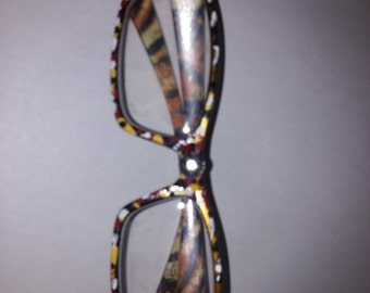 hand-painted reading glasses one of a kind