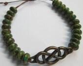 Celtic Leather Bracelet - For Her, Gift For Her, For Him, Unisex, Gift For Friend, Birthday, Infinity Symbol