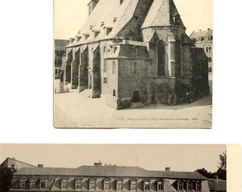 2 WEIMAR Germany Antique Postcards c.1905 Detailed Descriptions on Verso