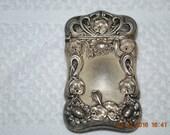 Sterling Silver stick Match Vesta Safe Gilbert 1155 Floral Motif Art Nouveau Era