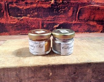 Calligraphy Gold  Ink for Dip Pens and Quills - Set of 2 Gold  Inks