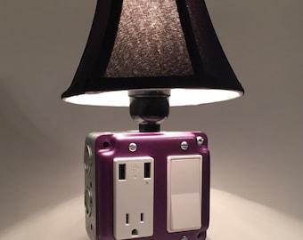 USB Charger/Lamp - Metallic Purple