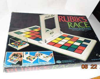 Vintage 1982 Rubik's Race from Ideal Based on rubik's cube game Complete