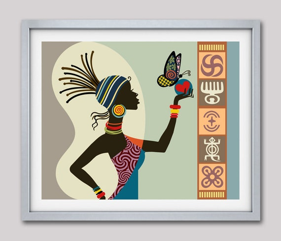 african woman art afrocentric art afrocentric decor african