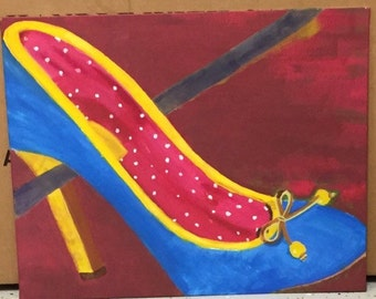 Sassy Shoesday Painting
