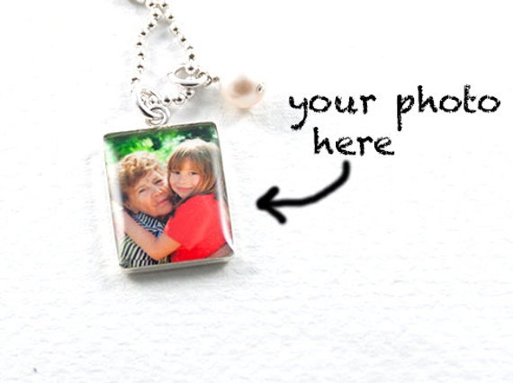 Photo Necklace | Sterling Silver Picture Necklace | Personalized Family Photo Pendant