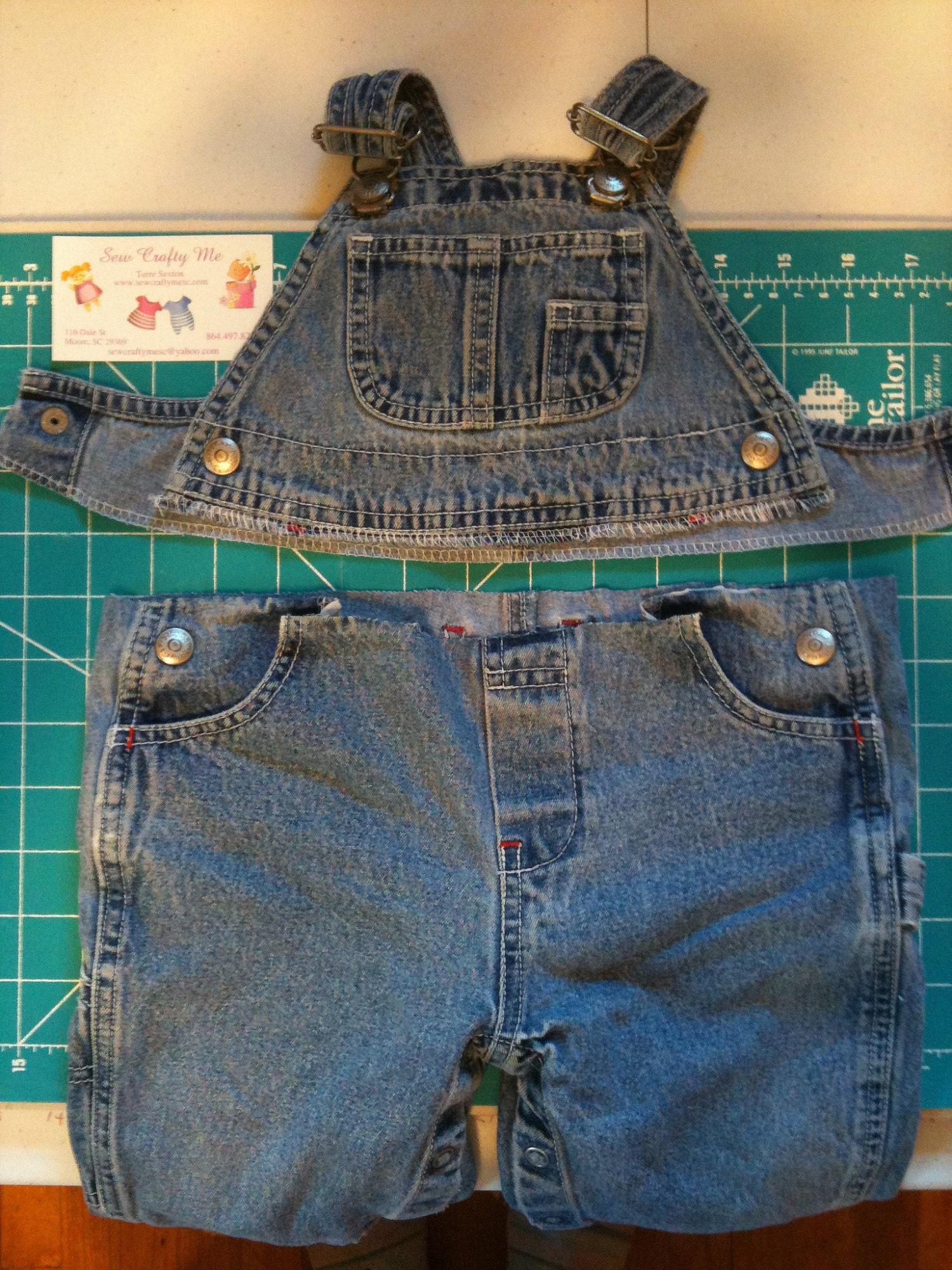 recycling old coveralls
