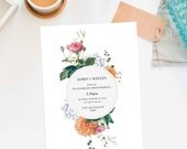 Custom Listing for Eve - 55 Wedding Invitations and Minor Changes to back of Invitation