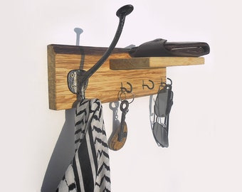 key and coat hanger with shelf