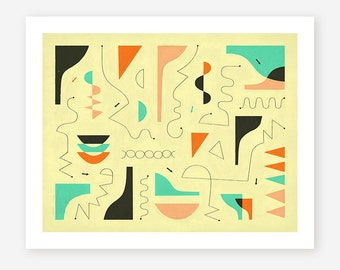 Giclée Fine art Print, Contemporary, Abstract Wall Art for the Home Decor, 'BELLY Of The BEAST'