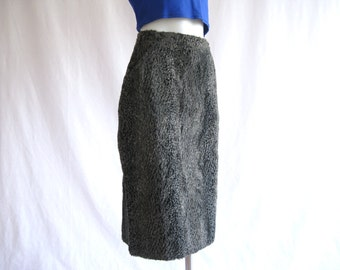90s Claudie Pierlot Gray Textured Pencil Skirt High Waist Goth Grunge Vaporwave Minimalist Club Kid Hip Hop // S