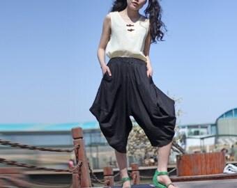 cotton bloomers Linen pants/Trousers /----Ethnic Simple  linen cotton shorts