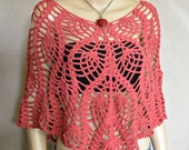 Summer Poncho, Summer Cover-Up, Spring Poncho, Crochet Poncho, Summer Poncho, Boho Poncho, Hippie Cover-up, Bohemian Poncho