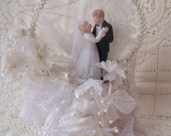Vintage Wedding Cake Topper.Made in Hong Kong.Vintage Wedding Decor.Wedding Vintage Cake Topper.Wedding Vintage Centerpieces.Something Old.