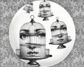 Bird cage Cavalieri melamine plate