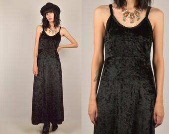 90's Crushed Velvet Maxi Dress
