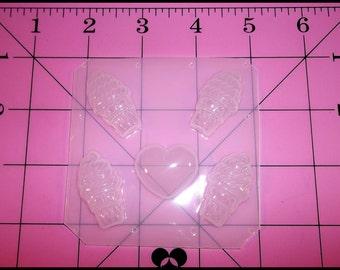 Swirl Mini Deco Ice Cream Cones & Heart Flexible Plastic Resin Mold (5 Cavity)
