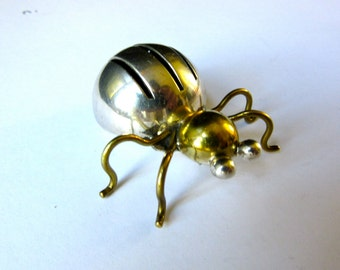 Silver Spider Brooch - Taxco Sterling Silver - Vintage Spider Pin - Mexico -