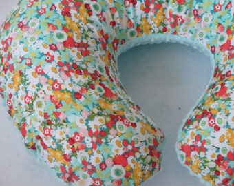 Art Gallery Lavish Flowers Boppy Cover With Personalization Option