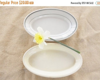 On Sale Cottage Style Vintage Casserole and Platter Set of 2, Rustic Farmhouse, Retro, Diner, Wedding