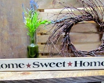 Home Sweet Home, Skinny Wooden Sign, Housewarming Gift, House Sign, Wood Sign Saying, House Sign, House Saying, Family Quote, Shelf Sitter