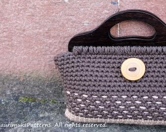 CROCHET PATTERN - Crochet purse Retro style - Listing115