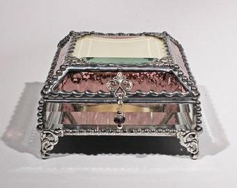 Photo Glass Jewelry Display Box - Treasure Box