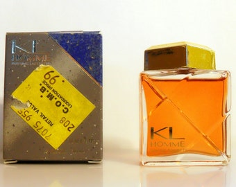Vintage 1980s KL Homme by Karl Lagerfeld 0.3 oz EDT Mini Cologne and Box Miniature PERFUME