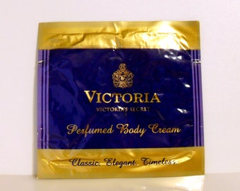 Vintage 1980s Victoria by Victoria's Secret Perfumed Body Lotion Sample Packet