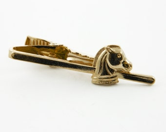 Gold Chess Piece Tie Clip