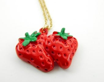 Strawberries Necklace