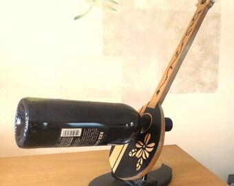 Wine Holder, Greek Bouzouki, Handmade Woodcraft Gift Item