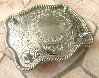 Studded Belt Custom Belt Buckle Add On, Spikes and Studs Metal Spikes, Silver Spikes, Biker Babe Add On, Silver Werstern Belt Buckle Blank