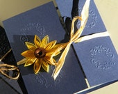 40 sunflower invitations RSVP 20 paper flowers