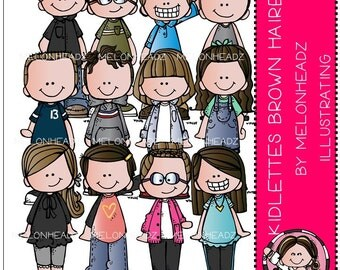 Kidlettes clip art - Brown Haired