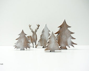 Christmas Decorations, Rustic Wooden Trees, Rustic Christmas, xmas decoration, Christmas Decoration