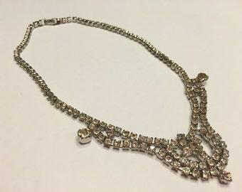 16 inch vintage Rhinestone Necklace (A11)