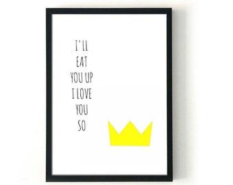 I'll Eat You Up Printable Art 5 x 7