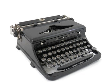 Royal Typewriter Touch Control  Black Portable with Glass Keys and Original Case