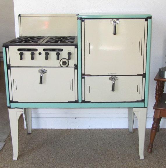 antique stove gas range 1920 39 s 30 39 s era continental. Black Bedroom Furniture Sets. Home Design Ideas