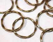20pc Link Rings Antique Bronze Connectors  22x15mm