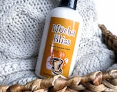 Mocha Bliss Lotion - Body Butter in a Pump Bottle - Vegan with Organic Ingredients - Coffee Chocolate Lotion - 8oz.