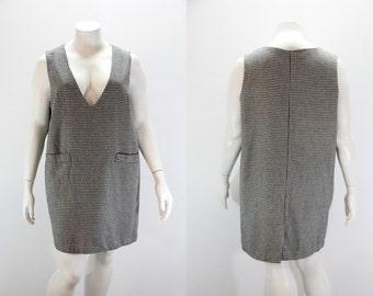 2X Vintage Dress Jumper - Houndstooth Plus Size Jumper