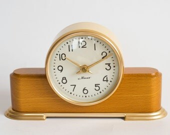 Vintage Mantel Clock Majak, USSR Table Clock 1960's, CollectibleTable Clock