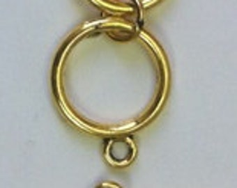 Pewter Toggle Clasp with Extension (6 Sets)