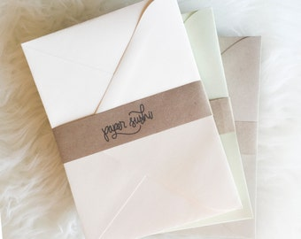 Blank Envelopes - sets of 25 blank envelopes in six colors - paper source - invitation stationery - stationery envelopes - card envelopes