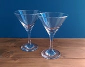 Pair of Vintage Hand Blown Glasses - Martini/Cocktail