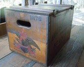 Vintage Industrial Primitive Budweiser Anheuser-Busch Inc Wooden Storage Crate/Box